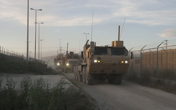 B-roll of Convoy in Afghanistan