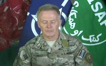 Maj. Gen. Tony Thomas - HQ-ISAF Press Briefing