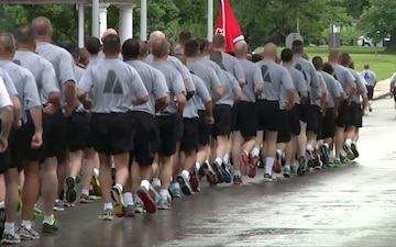Army Staff Run Commemorating the 238th Army Birthday