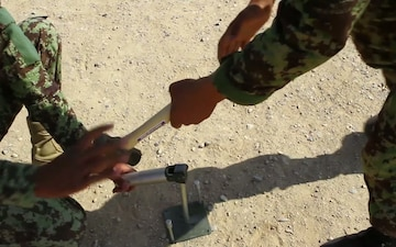 Afghan Soldiers Train With Their Communications Equipment (Part 1)