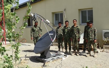 Afghan Soldiers Train With Their Communications Equipment (Part 2)
