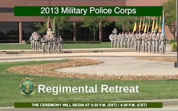 The Military Police Regimental Retreat