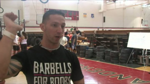 Andersen Fundraises For Barbells for Boobs