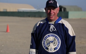 Master Sgt. Chuck Grey Blue Jackets Shout Out