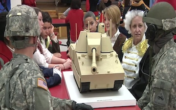 Soldiers Meet Historical Figures at Morehead Middle