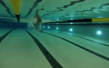A Soldier's Passion For Swimming