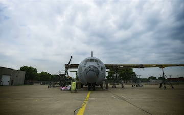 A C-130 is Disassembled at the 934th Airlift Wing (part 2)
