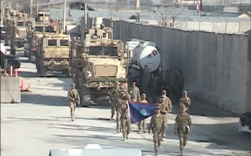 Task Force Guam Departing Afghanistan