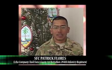 Sgt. 1st Class Pat Flores Shout out to Guam