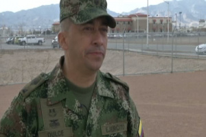 The Colombian Sergeant Major of the Army visit Ft. Bliss