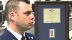 Around the Air Force - Airman Awarded Soldier's Medal, Short Version