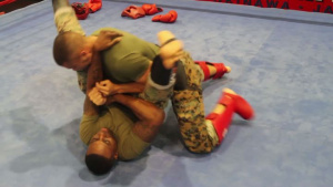 Marines punch, kick and wrestle to earn their tab