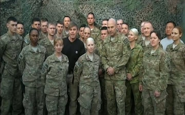 LTG Joseph Anderson and Actor Ricky Schroder