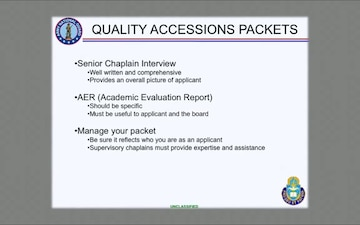 ARNG Chaplain Accessions Packets