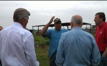 Arkansas Tornado - National Guard Response (RAW)