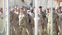 Service Members Aboard Camp Leatherneck Remember the Fallen