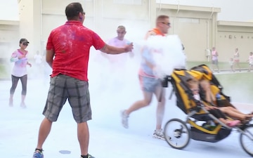 Service Members, Families Raise Awareness with a Color Run