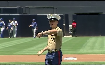 MOH Recipient Throws Out First Pitch