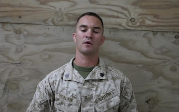 Sgt. Kyle Blair holiday shout out