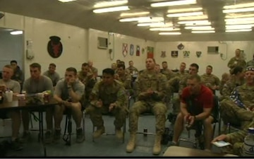 Troops at FOB Lightning Host World Cup Watch Party