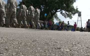 B-roll of Warrior Diplomats join Round Rock in Independence Day Celebration