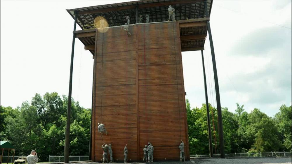 Dvids Video Cadre Coach Cadets On Rappel Tower