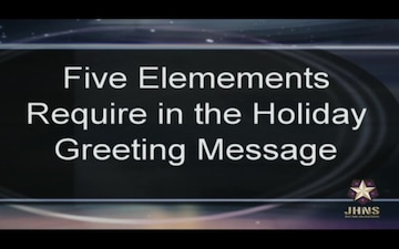 Holiday Greetings How To Video
