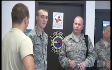 Command Chief James Hotaling Visits the 184th Intelligence Wing