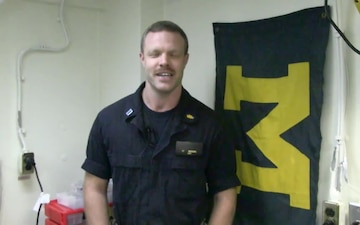 Lt. Coleman Meadows University of Michigan Shout Out