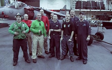 University of Michigan Fight Song Sung by Sailors Aboard USS Makin Island
