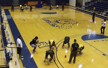 Raleigh Marines Work With NC A&T State University Women's Basketball Team