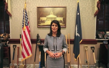 Governor Nikki Haley wishes the Air Force a happy birthday