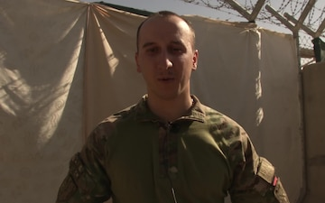 PFC David Berdzenishvili Shouts Out to Family in Georgia