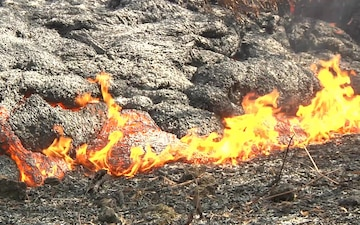 Puna Lava Flow Breakouts Near Cemetery and Transfer Station