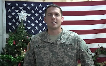 1st Lt. Cale Barber Sends a Holiday Greeting