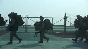 1/2 Marines Depart Helmand Province (Without Music)