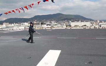 USS Bonhomme Richard Flight Deck Blowdown