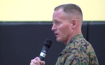 Brig. Gen. Banta Visits MCLB Barstow