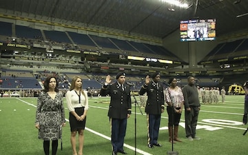 Cadet Commissioning Ceremony at Army All-American Bowl