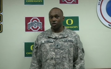 SSG Kenneth Russell NCAA Football Championship Game Shoutout