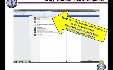 The Army National Guard Chaplains Facebook Page: What's In It For Me?