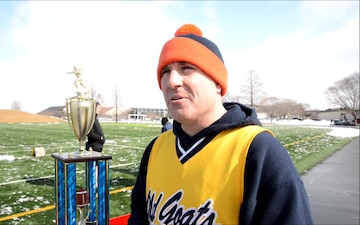 Sailors and Airmen Compete in the Third Annual Snow Bowl Flag Football Tournament