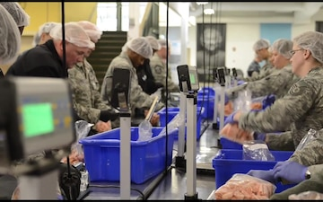 Oklahoma Military and OKC Thunder Team Up At The Regional Food Bank