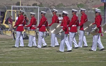 The Battle Color Detachment Performs at Marine Corps Logistics Base Barstow, Calif.