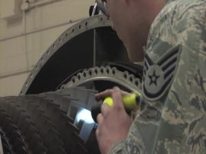 148FW Repairs FOD Damage for Savannah Deployment