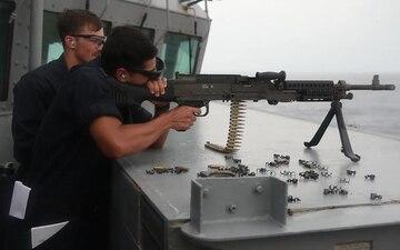 Fitz Fires M240B from USS Fitzgerald (DDG 62)