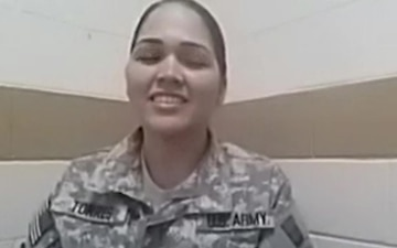 Staff Sgt. Milagros Torres (in Spanish)