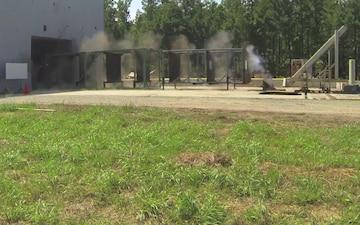 Electromagnetic Railgun Fires High Velocity Projectile (HVP)