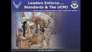 Leaders Enforce Standards and the UCMJ
