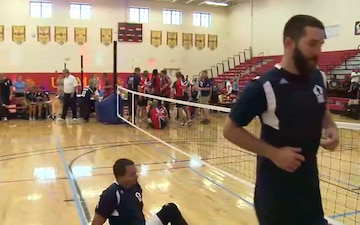 2015 DoD Warrior Games Volleyball Round 5: Navy vs. Team UK